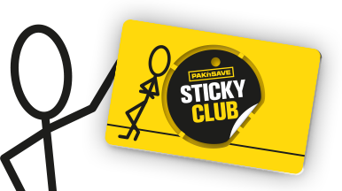 wireman holding sticky club card